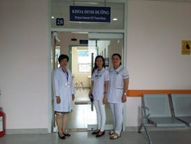 Hình tập thể khoa Dinh dưỡng Bệnh viện Đa khoa Trung tâm An Giang