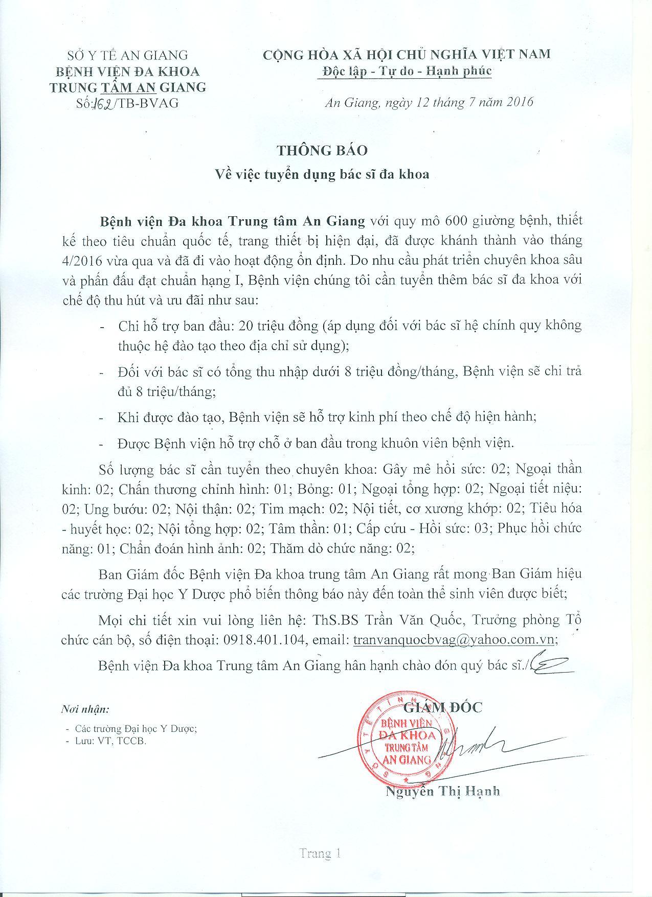 THONG BAO TUYEN DUNG